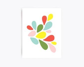 Modern Art Print - Petals No. 1 - 11x14 Print