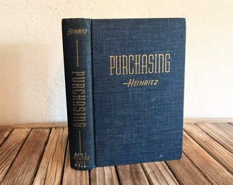 Vintage Book Titled Purchasing