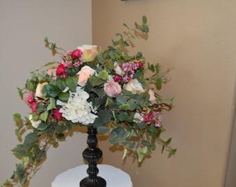 Silk Centerpiece, wedding centerpiece, silk wedding centerpiece, table centerpiece, garden fresh centerpiece, hydrangea centerpiece,