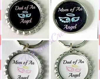 Memorial keepsake keychains- Baby angel keepsakes gift under 10