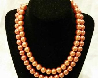 Vintage copper colored multi strand beads