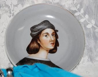 Renaissance Style Portrait Plate Hand Painted Occupied Japan