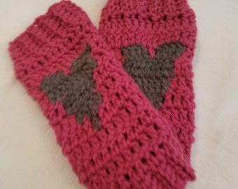 Crochet Heart Leg Warmers