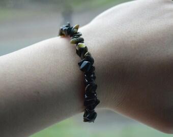 Chip Obsidian Bracelet