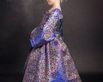 Child's Chinese Silk Elizabethan Gown