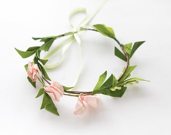 Baby Flower Halo, Baby Flower Crown, Floral Halo, Newborn Photography Prop, Infant Flower Crown, Easter