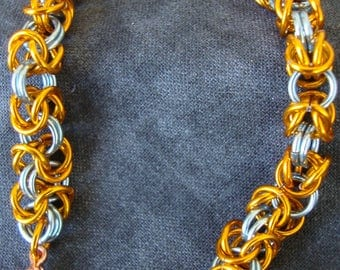 Chainmaille Bracelet, Byzantine weave