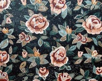 Flowery Mosaic Pattern Tiles Design
