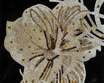 Beautiful Floral Glass Mosaic