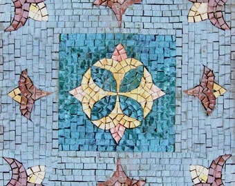 Blue Mosaic Accent