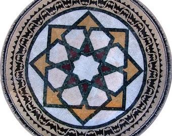 Round Marble Mosaic - Aquila