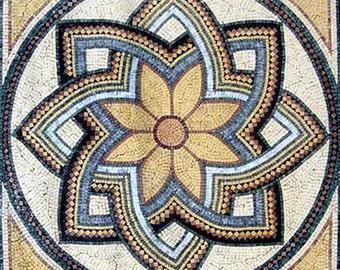 Roman Art Flower Mosaic - Octavia