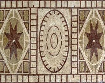 Rectangular Mosaic Art Panel - Gamila