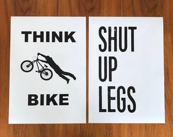 Think Bike & Shut up legs poster pack
