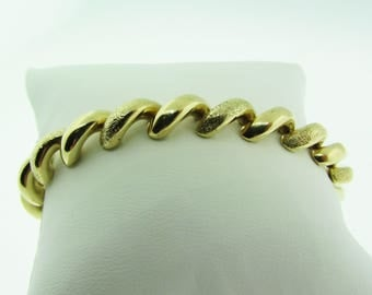 "14K gold San Marco bracelet. 7"". Made in Italy."