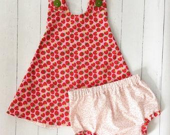 Strawberry Baby Dress , Strawberry Party Dress , Strawberry Toddler Dress , Strawberry Dress , Red Dress , Red Baby Dress , Pink Dress