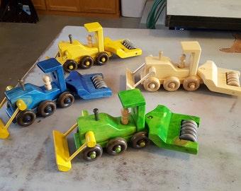 Bulldozer with compactor unit