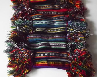 "100 Wool Woven Friendship Bracelets. 1"" Extra Wide"