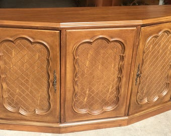 Vintage Entry Table, Credenza Buffet, Console Side Sofa Table, Storage