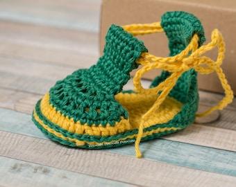 Sandales pour bébé fait à la main avec des liens, Double semelle chaussures, sandales de bébé au Crochet, Espadrille bébé sandales, sandales pour bébé,