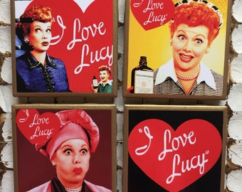 COASTERS! I love Lucy coasters with gold trim