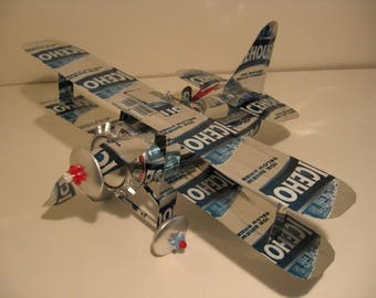 Icehouse Beer Can Airplane - Handcrafted-Wind Spinner- Airplane