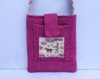 Dog walker Harris Tweed bag