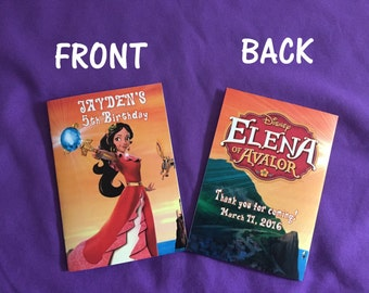 12 Personalized Elena of Avalor Coloring Books / with Crayons, Party Favors