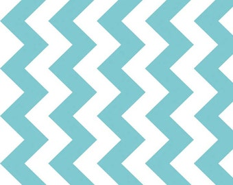 Chevron Dreamy in Aqua from Riley Blake Fabrics