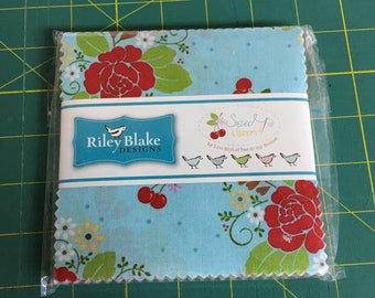 """Sew Cherry 2 - 5"""" Stackers from Riley Blake Designs"""