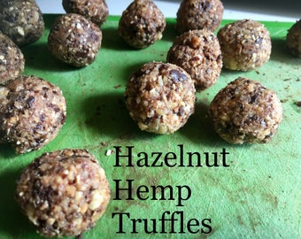 Hazelnut-Hemp Truffles (vegan and gluten-free)