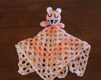 Orange kitty blanket, Baby Animal Blanket, security blanket, baby blanket, animal blanket, lovey blanket, soft baby blanket
