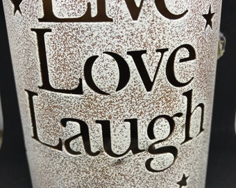 Live Love Laugh Large Candle Holder