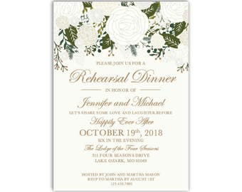 Rehearsal Dinner Invitation Template, DIY Rehearsal Invitation, Cheap Invitation, Rustic Invitation, INSTANT DOWNLOAD Microsoft Word #CL112