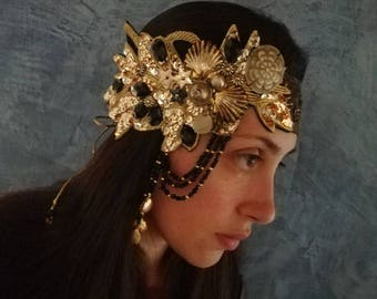 Black and gold headpiece