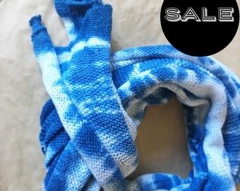 Indigo Cotton Linen Scarf