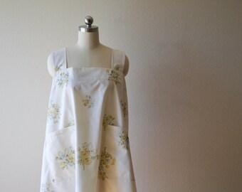 Recycled Vintage Floral Crossback Apron