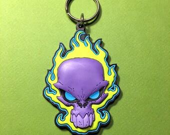 Purple Flame • PVC Keychain