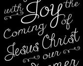 Greet, Joy - Digital Download - Black & White - Gift