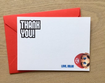 Super Mario Thank You Cards - set of 5