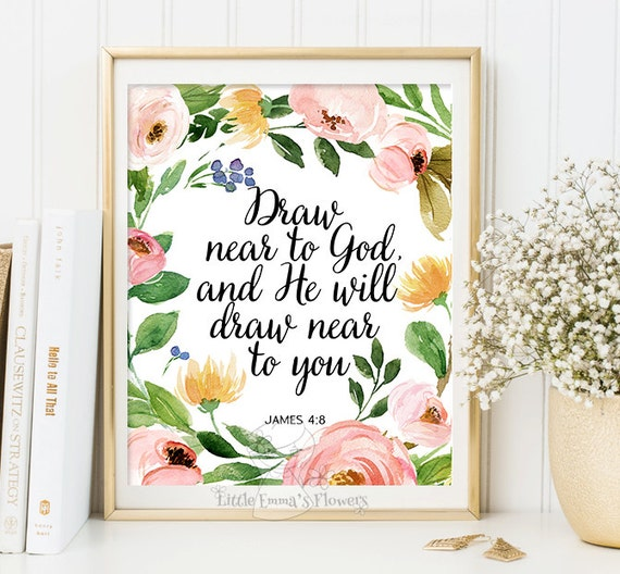 Christian Wall Decor For Nursery : Christian home decor scripture print wall nursery