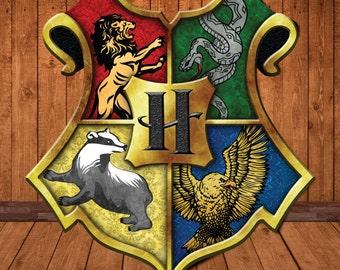 "BIG Hogwarts Printable Crest PDF 24x22"" Full Colour Printable Banner Crest"