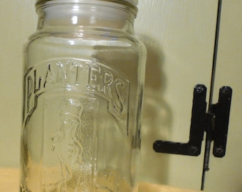 Vintage Planters Nuts Glass Peanut Jar 75th Anniversary 1906 - 1981