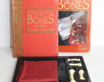 The Oracle of the Bones by Claire O'Neill Casting Bones Cloth Map 128 Pages Book Divination