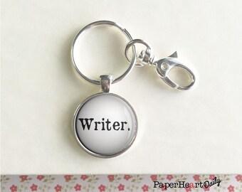 Writer Key Chain - Gift for Writer - Storyteller Gift - Mens Key Chain - Writing Key Chain -   (F5804)