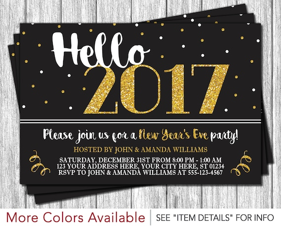 New Years Eve Invitation • New Years Eve Party • Hello ...