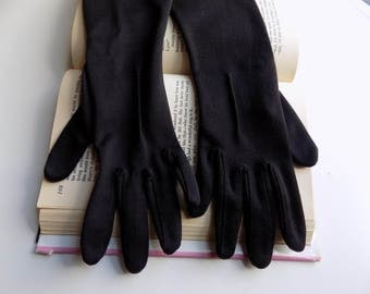 Formal Gloves, Vintage Gloves, 1960s, Long Black Gloves, 60s Gloves, Black, Size Medium, Womens Gloves, Ladies Gloves, Opera Gloves