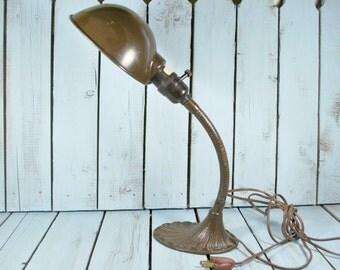 Vintage Industrial  Gooseneck Desk Lamp ,Office Reading Lamp