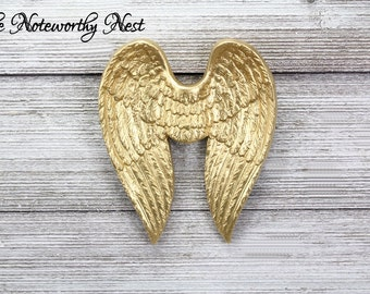 Angel Wings / Gold Wings // Angel Wings Wall Decor // Angel Decor // Gallery Wall Art // Religious Decor / Gift for Her / Nursery Wall Decor