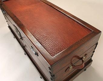 Bizon Leather Trunk , Camel Back Trunk, Camel Back, Custom Furniture, Handmade Fruniture